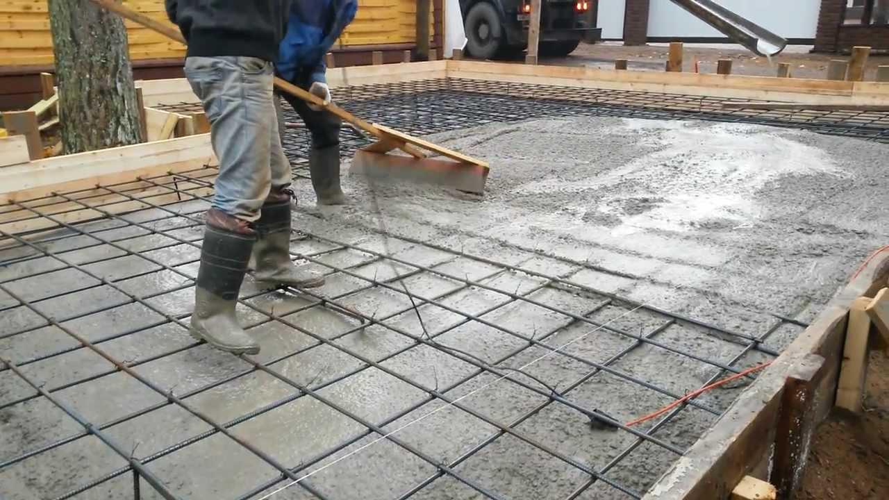 Как сделать бетонную подготовку