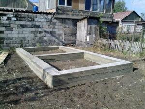 Фундамент для бани 6х3