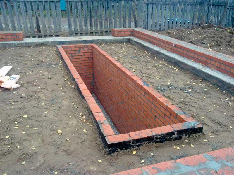 Фундамент для гаража с ямой