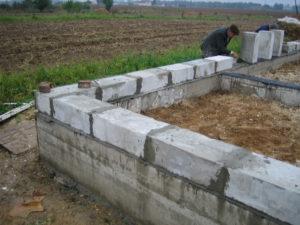 Фундамент для бани из шлакоблоков