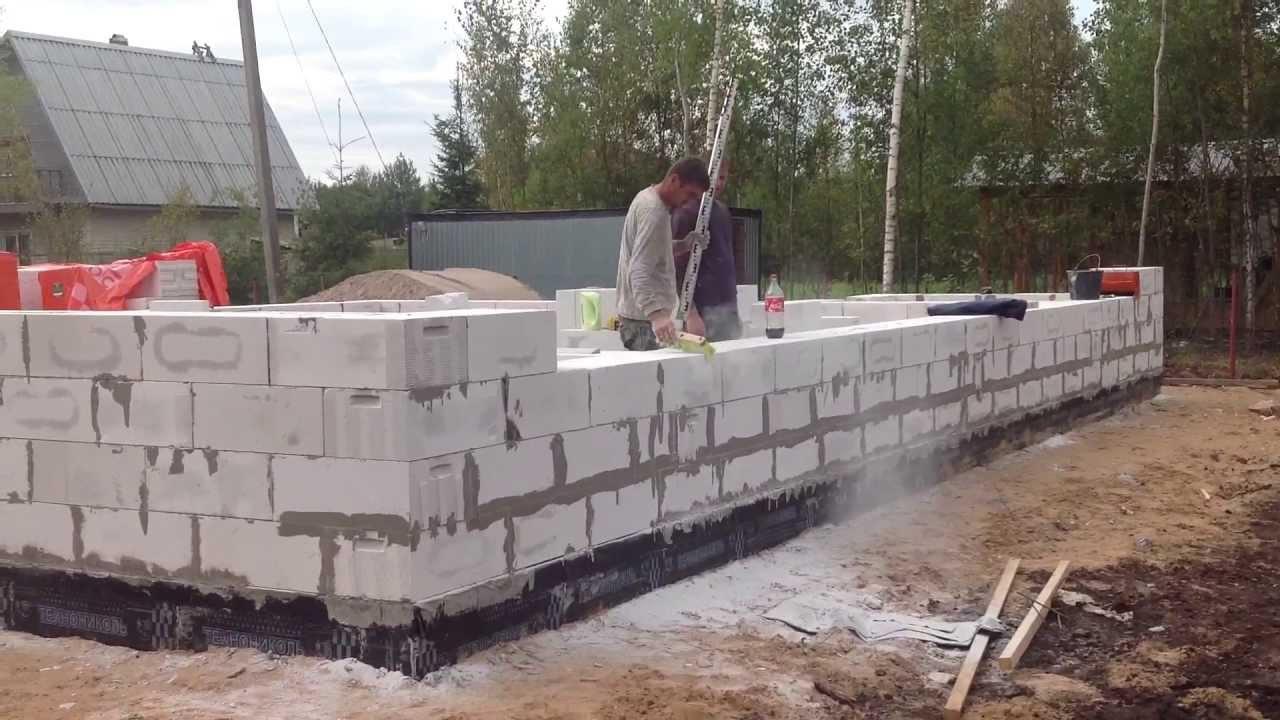 Фундамент под дом из газобетона